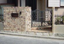 汚れが激しく古くなった門扉や境界のブロックを新しく