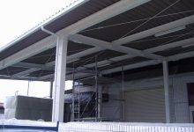 京都市南区 会社ガレージ屋根の塗装リフォーム