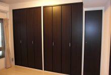 京都府宇治市のマンションの寝室に造り付のクローゼット