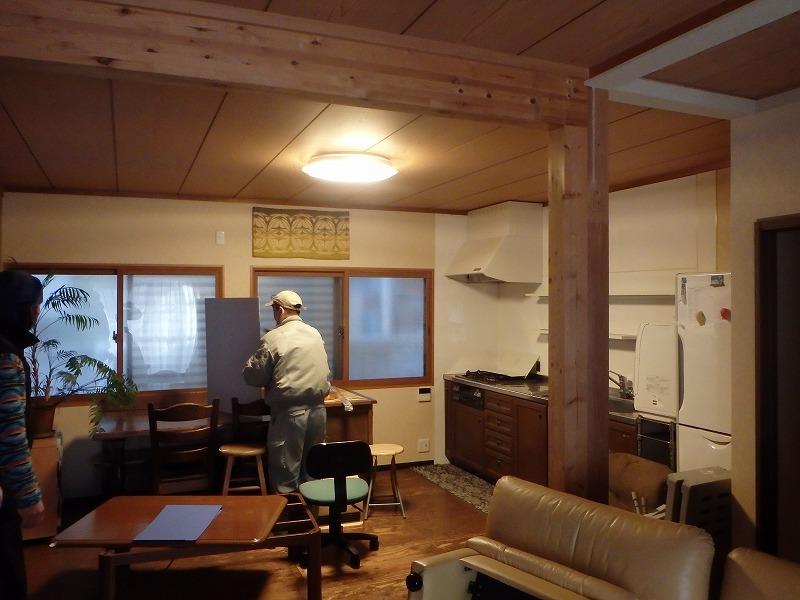 京都市中京区住みながらの戸建てリフォーム 工事中